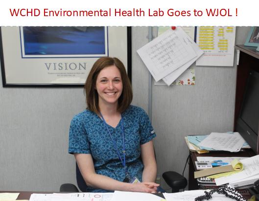 WCHD Environmental Lab Coordinator Trisha Kautz Explains Lab's Multiple Roles on WJOL Radio