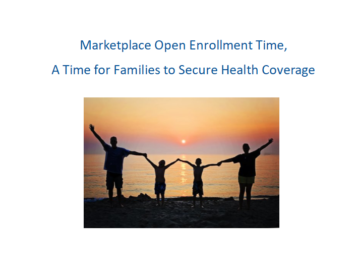 Marketplace Open Enrollment Time Can Be a New Beginning for Families