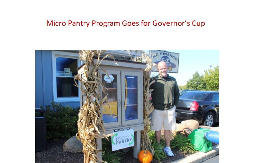 Micro Pantry Program up for Governor's Cup Award