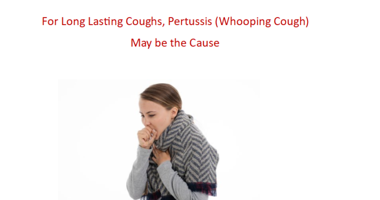 Don't Forget to Consider Whooping Cough, and it's Easy to Test For