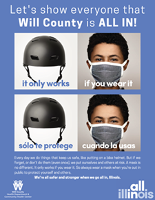 Posters-All-In Will County-bike helmet