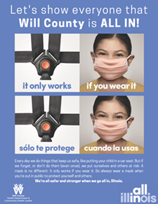 Posters-All-In Will County- car seat