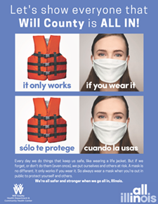 Posters-All-In Will County- life jacket