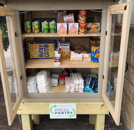 photo of a micro food pantry