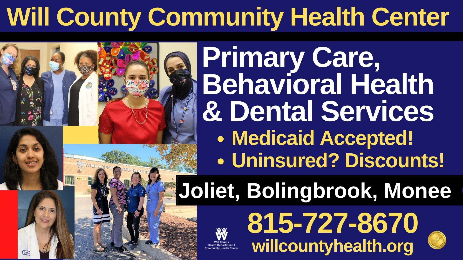 Will County Health Center Primary Care Behavioral Health and Dental Services